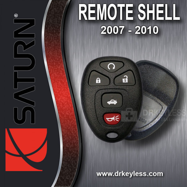 Saturn Aura KOBGT04A Keyless Entry Remote Shell and Rubber Pad 5B Trunk / Remote Start / 2007 - 2009