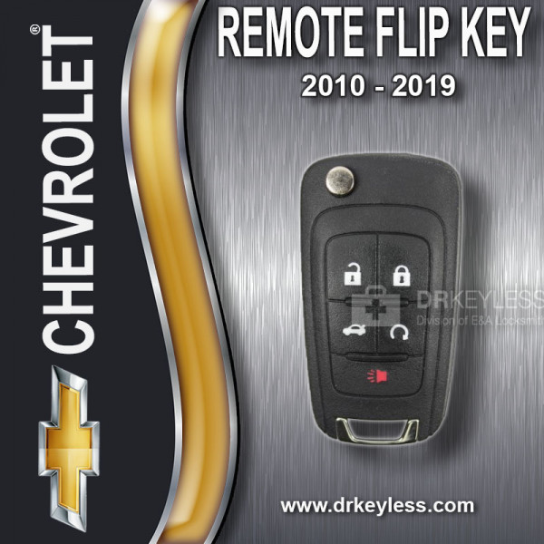 REFURBISHED Strattec Chevrolet Remote Flip Key - 5B Trunk / Starter - 5912545 - KR55WK50073 / 2010 - 2019