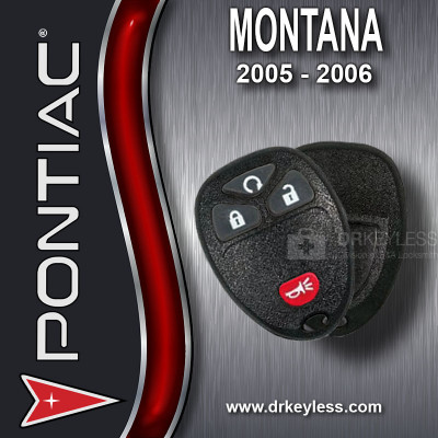 Pontiac Montana Keyless Entry Remote Shell with 4B Starter Rubber Pad for 15114374 KOBGT04A 2005 - 2006