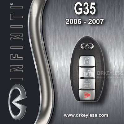 REFURBISHED Infiniti G35 Smart Prox Key / 4B / Trunk / KBRTN001 / 2005 - 2007
