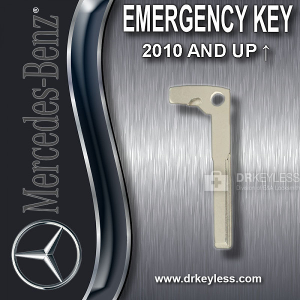 Aftermarket Mercedes 2010 and Up New Style Emergency Key / High Security