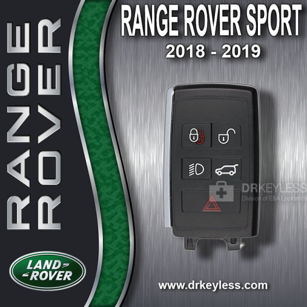 REFURBISHED Land Rover Range Rover Sport Smart Key / 5B / K0BJXF18A / 2018 - 2019
