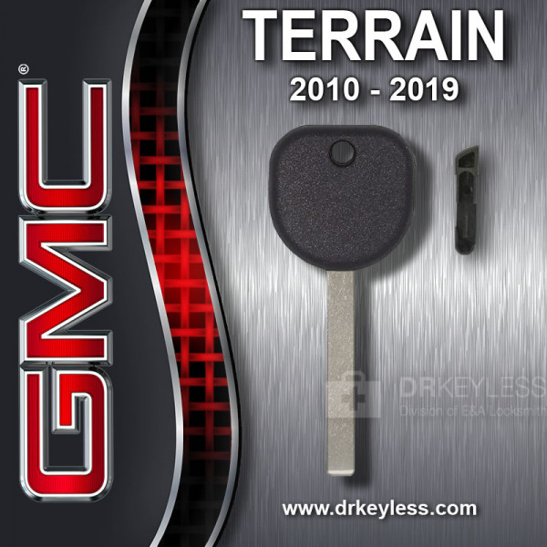 Aftermarket GMC Terrain High Security Transponder Key Shell / 2010 - 2019