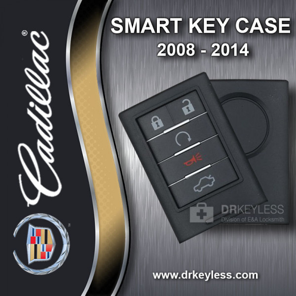 Cadillac CTS Smart Key Case 5B Trunk / Remote Start - 2008 - 2013