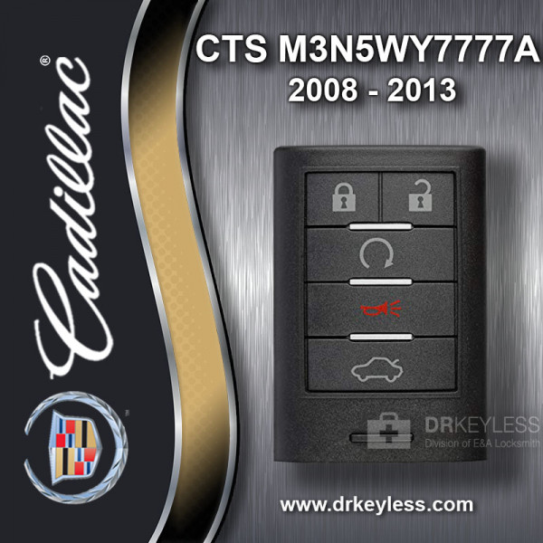 REFURBISHED Cadillac CTS Smart Key 2008 - 2014 M3N5WY7777A