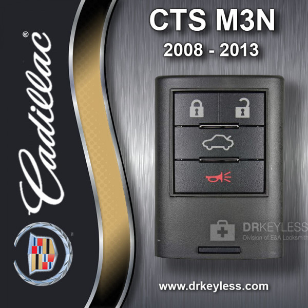 Cadillac Memory 2 CTS Smart Key 4B Trunk / Remote Start - M3N5WY7777A 2008 - 2013