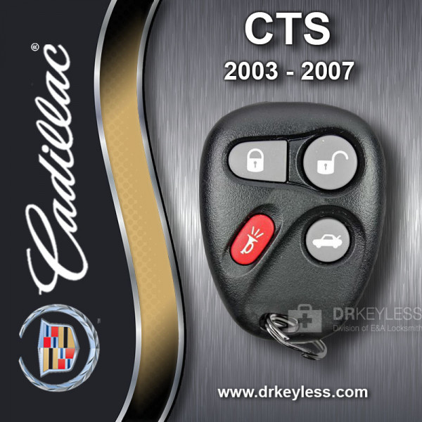 REFURBISHED Cadillac CTS Keyless Entry Remote 4B Trunk - 12223130-50 L2C0005T 2003 - 2007
