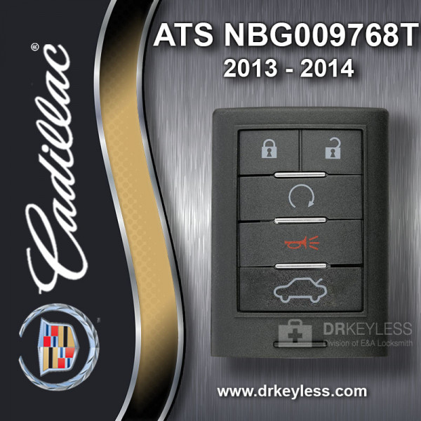 REFURBISHED Cadillac ATS Smart Key 5B Trunk - NBG009768T 2013 - 2014