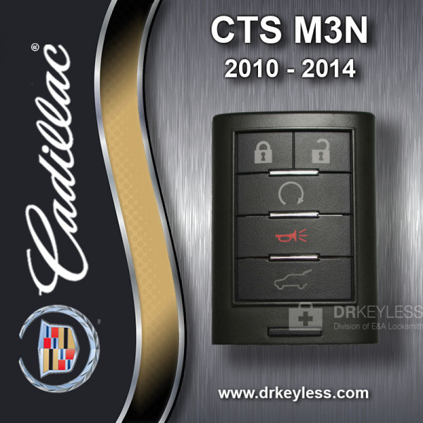 REFURBISHED Cadillac CTS Wago Smart Key M3N5WY7777A 2010 - 2014