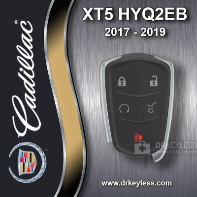 REFURBISHED Cadillac XT5 Smart Key 5B Hatch / Remote Start - HYQ2EB  2017 - 2019
