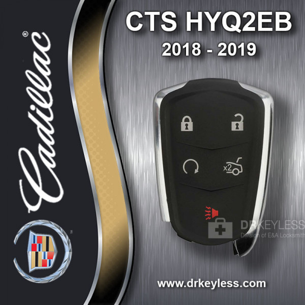 REFURBISHED Cadillac CTS Smart Key 5B Trunk / Remote Start - HYQ2EB 2018-2019