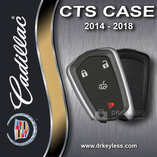 Aftermarket Cadillac CTS Sedan 4B Trunk Smart Key Case / 2014 - 2018