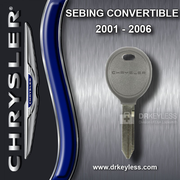 Chrysler Sebring Convertible Transponder Key - TEXAS ID 4D 64 / 2001 - 2006