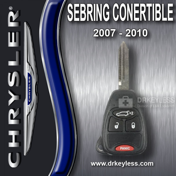 REFURBIHSED Chrysler Sebring Convertible Remote Head Key 4B Trunk - OHT692427AA / 2007 - 2010