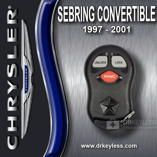 REFURBISHED Chrysler Sebring Convertible Keyless Entry Remote 3B- KYPT03C98JA / 1997 - 2001