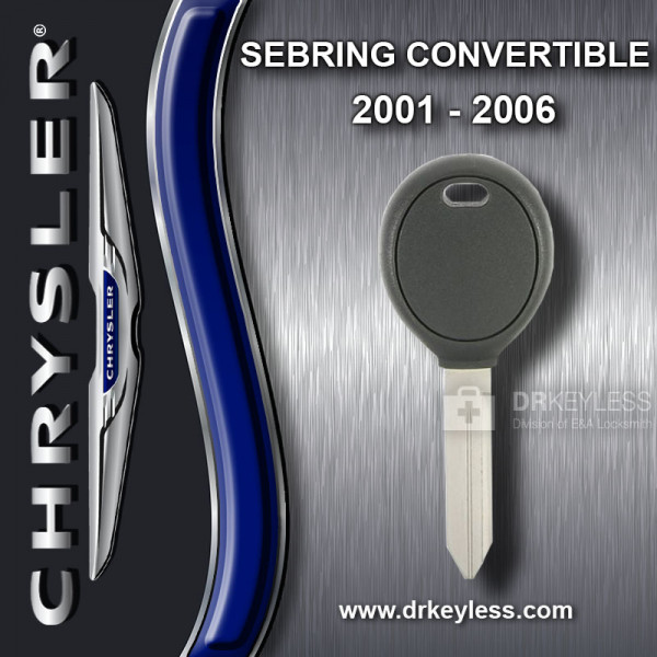 AFTERMARKET Chrysler Sebring Convertible Transponder Key / 2001 - 2006