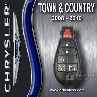 Chrysler Town and Country Fobik Key 6B Hatch / Power Doors - M3N5WY783X 2008 - 2010