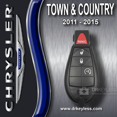 Chrysler Town & Country Fobik Key 4B Remote Start - IYZ-C01C / 2011 - 2015