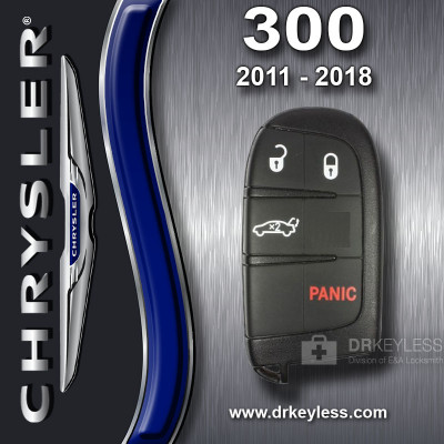 REFURBISHED Chrysler 300 Smart Key 4B Trunk M3N-40821302 / 2011 - 2018
