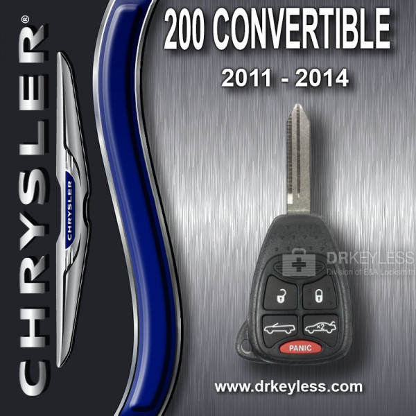 Chrysler 200 Convertible Remote Head Key 5B Trunk / Top - OHT692427AA / 2011 - 2014