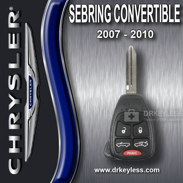 Chrysler Sebring Convertible Remote Head Key 5B Trunk / Top - OHT692427AA / 2007 - 2010