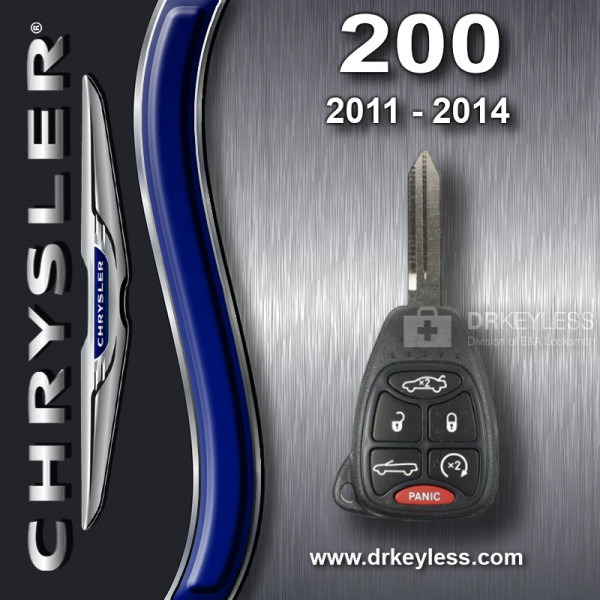 REFURBISHED Chrysler 200 Convertible Remote Head Key 6B - OHT692427AA / 2011 - 2014