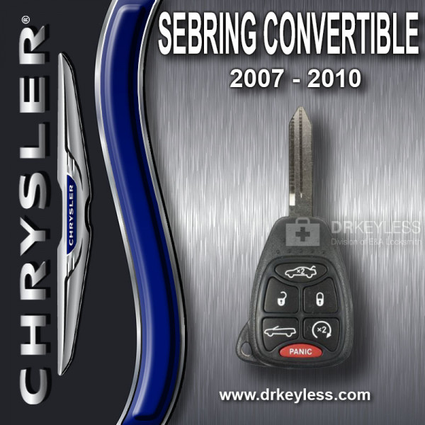 Chrysler Sebing Convertible Remote Head Key 6B - OHT692427AA / 2007 - 2010