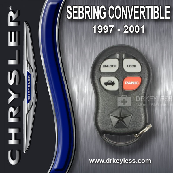 REFURBISHED Chrysler Sebring Convertible Keyless Entry Remote 4B Trunk - KYPTX002 / 1997 - 2001