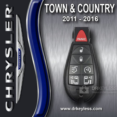 REFURBISHED Chrysler Town & Country Smart Fobik Key 7B Hatch / Remote Start / Power doors IYZ-C01C / 2011 - 2016