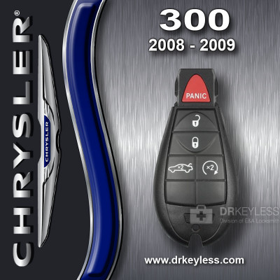 Chrysler 300 Fobik Key 5B Trunk / Remote Start - M3N5WY783X / 2008 - 2009
