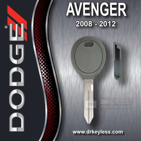 Dodge Avenger Transponder Key Shell / 2008 - 2012