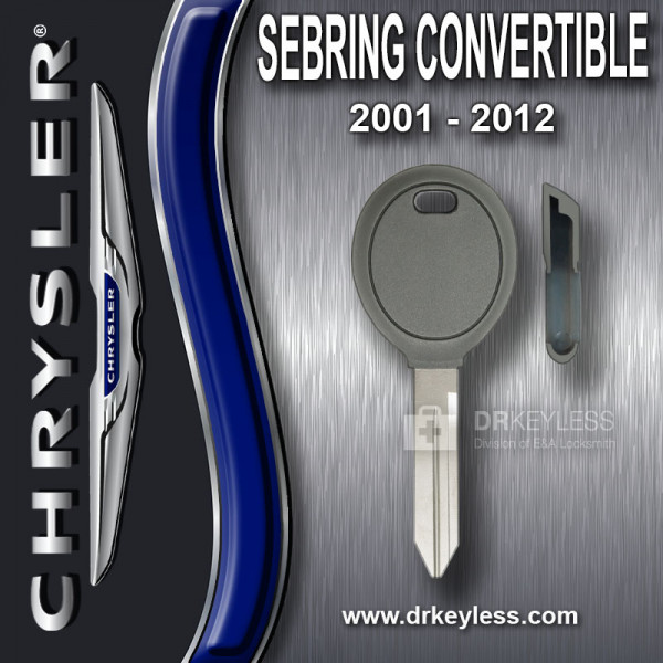 Chrysler Sebring Convertible Transponder Key Shell / 2001 - 2012