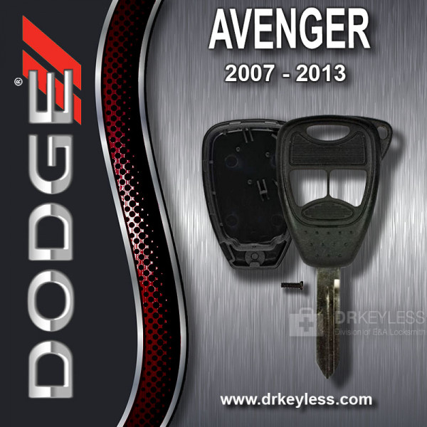 Aftermarket Dodge Avenger Remote Head Key Shell 3B Small Panic / 2007 - 2013