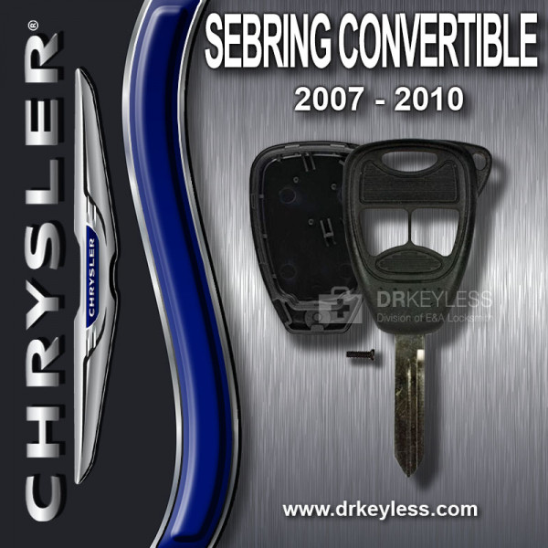 Aftermarket Chrysler Sebring Convertible Remote Head Key Shell 3B Small Panic / 2007 - 2010