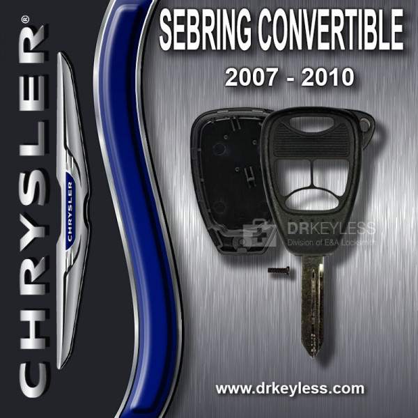AFTERMARKET Chrysler Sebring Convertible Remote Head Key Shell 4B Small  Panic / 2007 - 2010