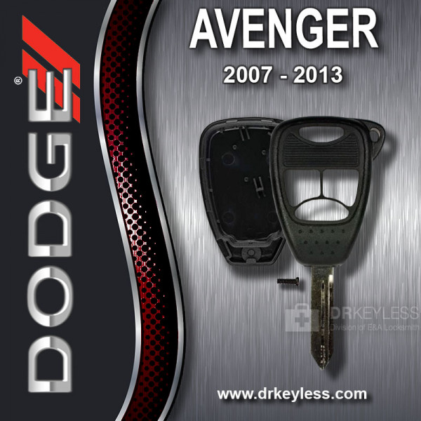 AFTERMARKET Dodge Avenger Remote Head Key Shell 4B Small  Panic / 2007 - 2013