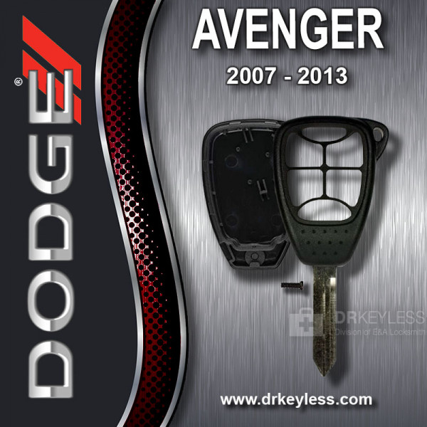 Aftermarket Dodge Avenger Remote Head Key Shell 6B Small Panic / 2007 - 2013
