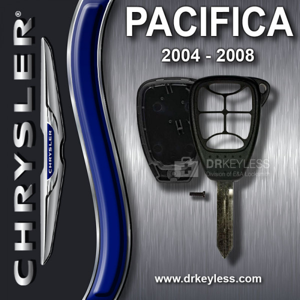 Aftermarket Chrysler Pacifica Remote Head Key Shell 6B Small Panic / 2004 - 2008
