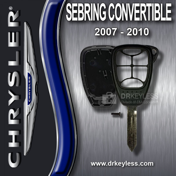 Aftermarket Chrysler Sebring Convertible Remote Head Key Shell 6B Small Panic / 2007 - 2010