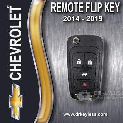 REFURBISHED Chevrolet Remote Flip Key 4B Trunk - KR55WK50073 / 2014 - 2019
