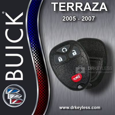 Buick Terraza Keyless Entry Remote Shell with 4B Starter Rubber Pad for 15114374 KOBGT04A 2005 - 2007