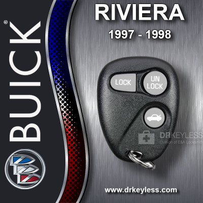 Buick Riviera Keyless Entry Remote 3B Trunk without Anti-Theft 16245103 AB01502T 1997 - 1998