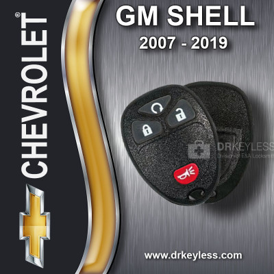 Chevrolet Silverado Keyless Entry Remote Shell with 4B Starter Rubber Pad for OUC60270 OUC60221 2007 - 2013
