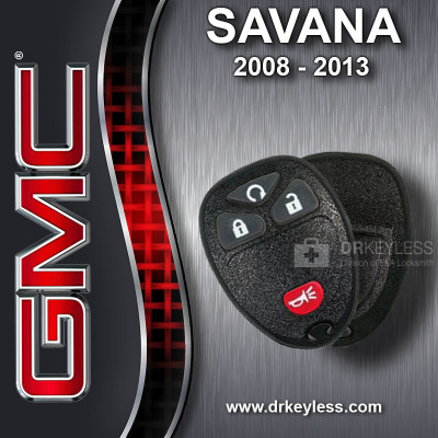 GMC Savana Keyless Entry Remote Shell with 4B Starter Rubber Pad for OUC60270 OUC60221 2008 - 2013