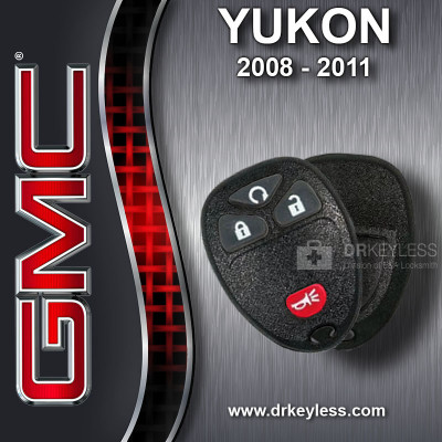 GMC Yukon Keyless Entry Remote Shell with 4B Starter Rubber Pad for OUC60270 OUC60221 2008 - 2011
