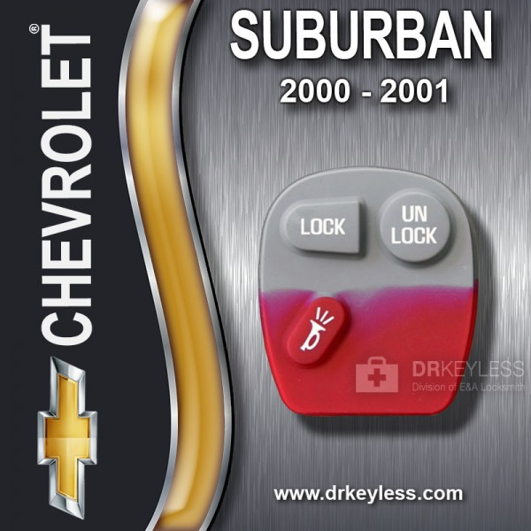 Chevrolet Suburban 3B Old Style Remote Rubber Pad / 2000 - 2001