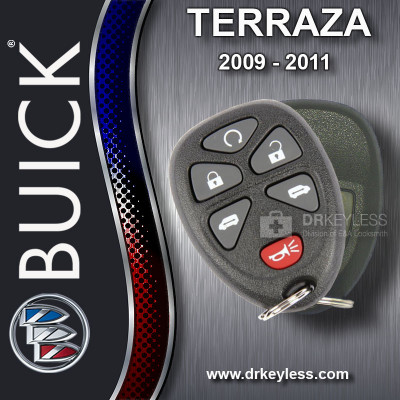 Buick Terraza Keyless Entry Remote Shell with 6B Starter / Power doors Rubber Pad for 15114376 KOBGT04A 2009 - 2011