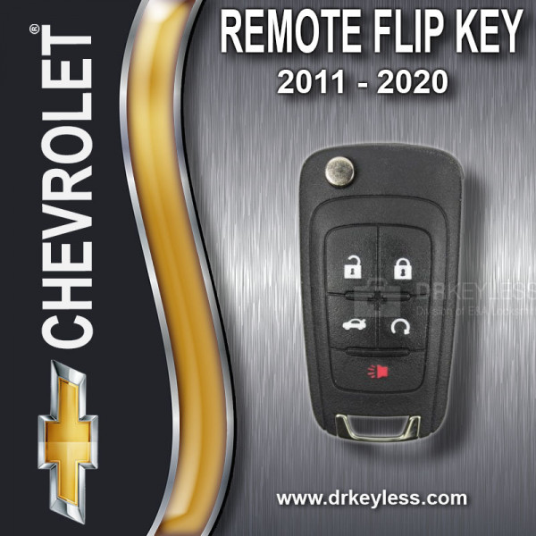 REFURBISHED Chevrolet PEPS Remote Flip Key 5B Trunk - OHT05918179 / 2011 - 2020