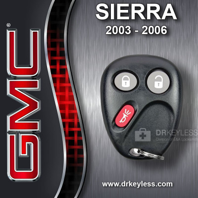 GMC Sierra Keyless Entry Remote CANADA 21997126 2003-2006