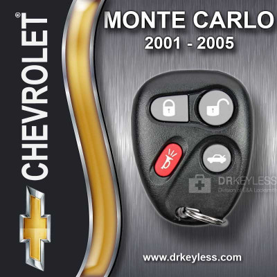 Chevrolet Monte Carlo Keyless Entry Remote 4B Trunk 10443537 KOBLEAR1XT 2001 - 2005